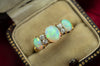 ANTIQUE THREE OPAL AND DIAMOND RING IN 18K - SinCityFinds Jewelry