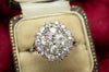 2.84CTW OLD EUROPEAN AND MINE CUT CLUSTER RING - SinCityFinds Jewelry