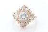 BALLERINA STYLE RING BY DESIGNER HEIDI GIBSON - SinCityFinds Jewelry