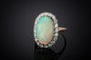 LARGE OPAL AND DIAMOND HALO RING