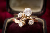 RETRO 1CTW RING WITH TRANSITIONAL CUT CENTER - SinCityFinds Jewelry