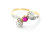 BELLE EPOQUE FRENCH DIAMOND AND RUBY RING