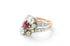 ANTIQUE NATURAL RUBY AND OLD CUT DIAMOND RING - SinCityFinds Jewelry