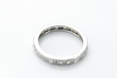 FRENCH PLATINUM AND ROSE CUT DIAMOND ETERNIT BAND - SinCityFinds Jewelry