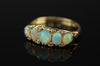 OPAL AND ROSE CUT DIAMOND FIVE STONE BAND - SinCityFinds Jewelry