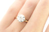 8MM OEC MOISSANITE SOLITAIRE IN YELLOW GOLD