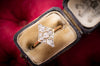 DAINTY EDWARDIAN DIAMOND RING - SinCityFinds Jewelry