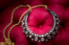 ROSE CUT DIAMOND CRESCENT NECKLACE - SinCityFinds Jewelry