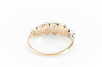 GEORGIAN SEVEN STONE HALF HOOP BAND - SinCityFinds Jewelry