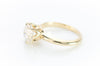 8MM OEC MOISSANITE SOLITAIRE IN YELLOW GOLD - SinCityFinds Jewelry