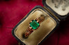 ANTIQUE EMERALD SOLITAIRE RING - SinCityFinds Jewelry