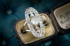 ELONGATED OVAL OLD CUT DIAMOND RING - SinCityFinds Jewelry