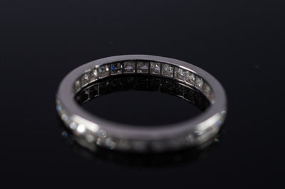 FRENCH CUT ETERNITY PLATINUM BAND - SinCityFinds Jewelry