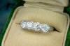 1.28CTW ROUND BRILLIANT FOUR STONE BAND IN 18K - SinCityFinds Jewelry
