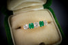 DIAMOND AND EMERALD FIVE STONE BAND - SinCityFinds Jewelry