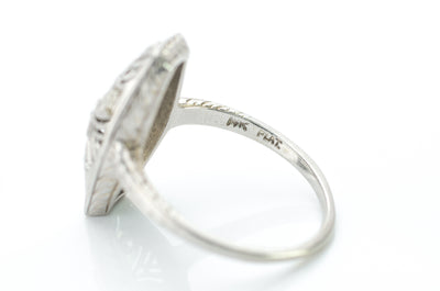PLATINUM AND GOLD OLD CUT DIAMOND RING