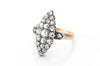 ANTIQUE ROSE CUT DIAMOND NAVETTE RING - SinCityFinds Jewelry