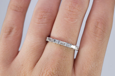 1CTW BAGUETTE AND ROUND ETERNITY BAND - SinCityFinds Jewelry