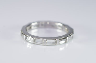 VINTAGE BAGUETTE CUT DIAMOND ETERNITY BAND - SinCityFinds Jewelry