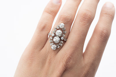 BELLE  EPOQUE DIAMOND WREATH RING - SinCityFinds Jewelry