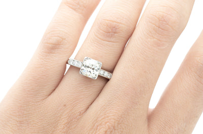 1.30CTW PLATINUM OLD EUROPEAN CUT DIAMOND RING