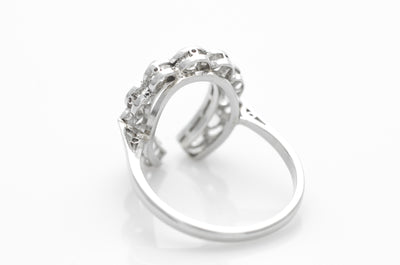 1.60CTW PLATINUM HORSESHOE DIAMOND RING - SinCityFinds Jewelry