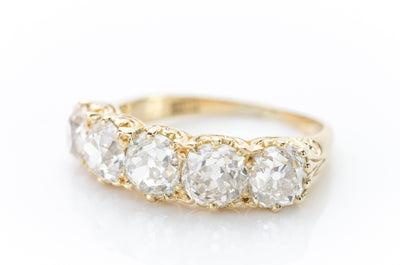 FIVE DIAMOND VICTORIAN RING