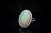 EDWARDIAN OPAL AND DIAMOND HALO RING - SinCityFinds Jewelry