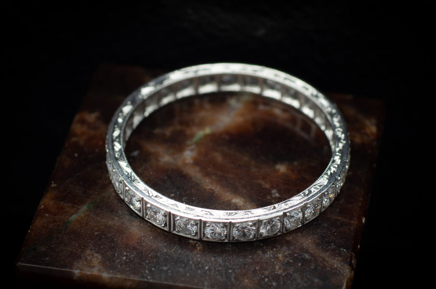 ART DECO 1CTW DIAMOND ETERNITY BAND