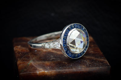 ART DECO MOISSANITE RING