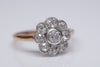 1.18CTW ANTIQUE DAISY STYLE OLD MINE CUT DIAMOND RING - SinCityFinds Jewelry