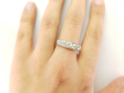 ON HOLD 1.60CTW OLD MINE CUT FIVE STONE RING - SinCityFinds Jewelry