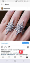 VICTORIAN INSPIRED OLD CUT DIAMOND STAR RING - SinCityFinds Jewelry