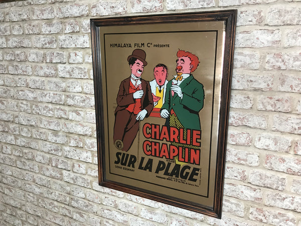 Charlie Chaplin Original Framed Advertising Mirror