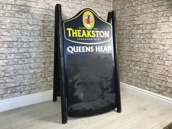 Theakston Legendary Ales Queens Head Pubs A-Board Sign