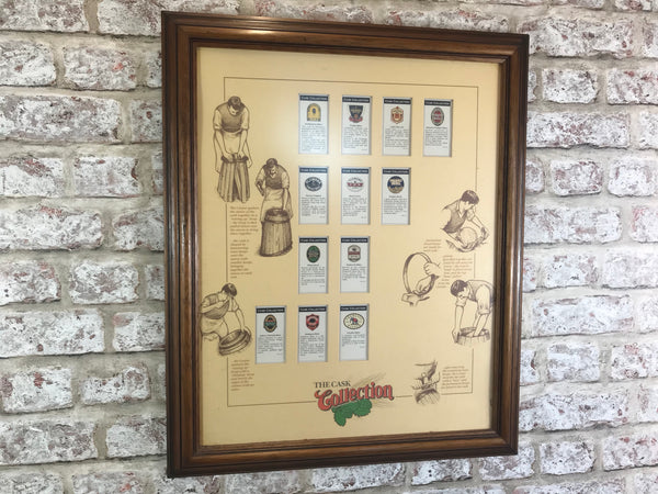 Pub & Bar Cask Ales Advertising Framed Picture
