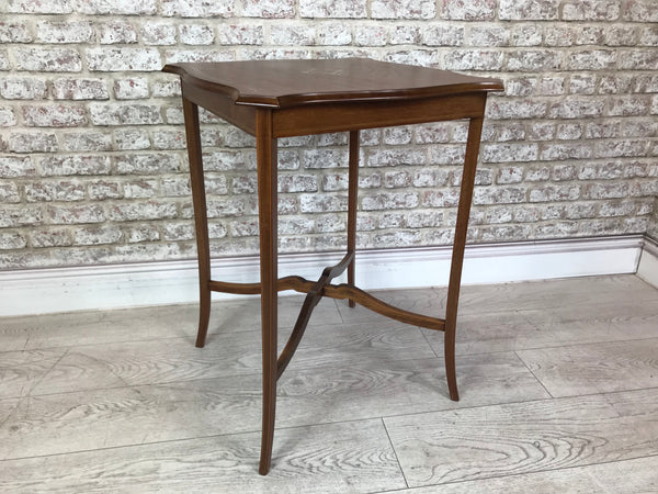 Rosewood Inlaid Lamp Table