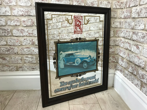 Rolls Royce Framed Advertising Mirror