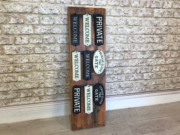 Shop Display / 18x Gate Signs In Cast Iron