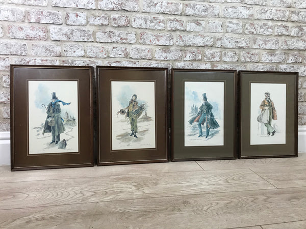 John Hogarth framed Prints x4 Circa 1977 Newcastle upon Tyne
