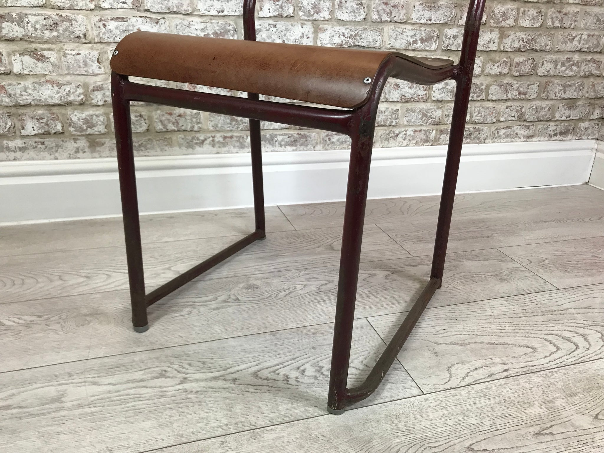 Vintage Metal Framed School Chair Circa 1950s