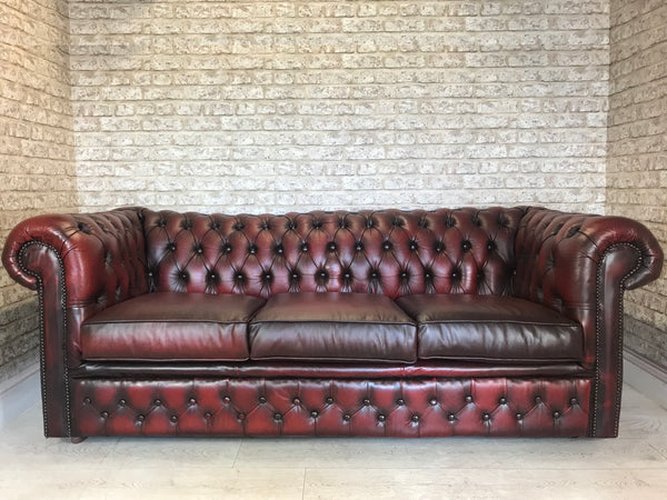 Oxblood Leather Chesterfield Buttoned Club Chair – Rusty Nail Traders
