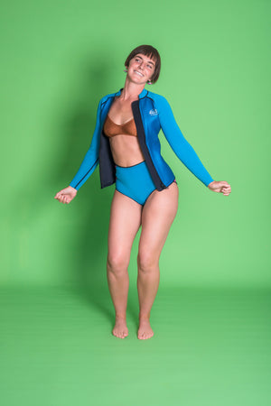 Queenin Jacket - Electric Blue