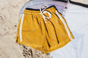 Terry Towelling Shorts - Mustard
