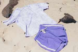 Terry Towelling Shorts - Lavender