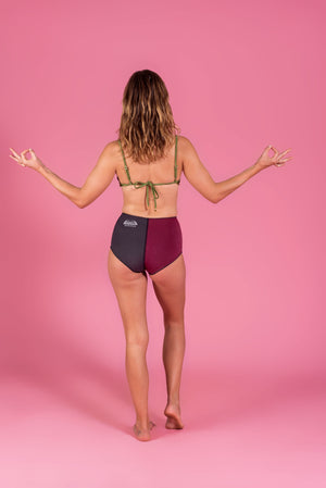 High waist Briefs - Wine