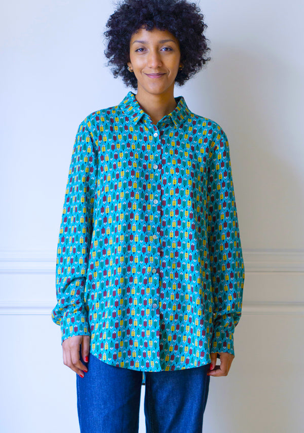 Chemise au motif Scooter cannard