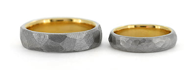 Make your own wedding rings in platinum