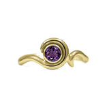 Entwine solitaire engagement ring in 9ct gold - yellow gold and amethyst