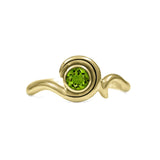 Entwine solitaire engagement ring in 9ct gold - yellow gold and peridot